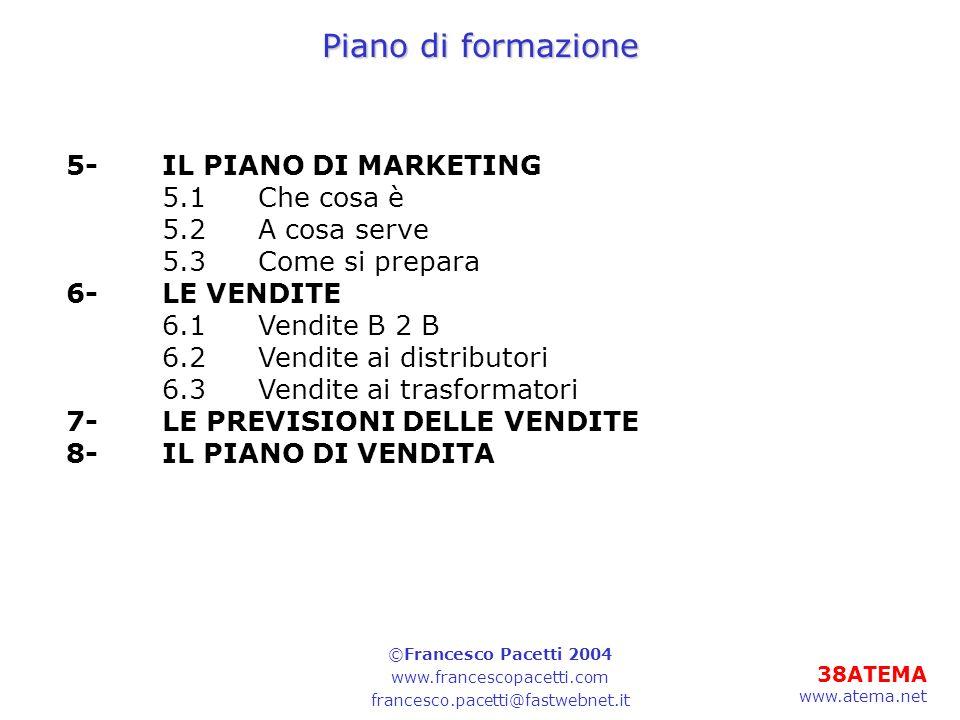 Piano di formazione 5- IL PIANO DI MARKETING 5.1 Che cosa è