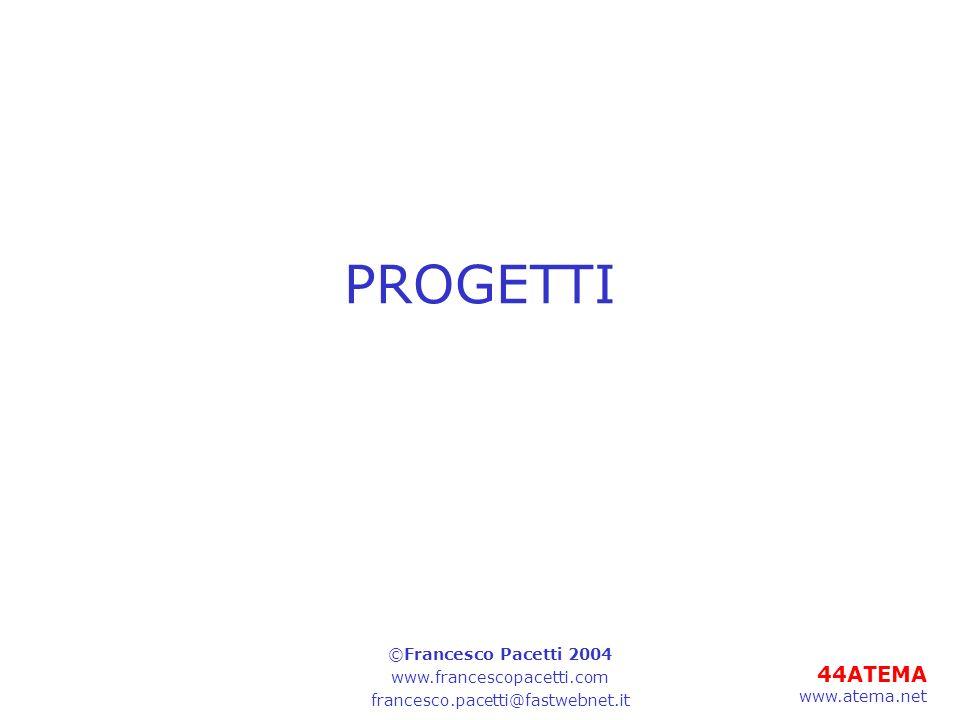 PROGETTI ©Francesco Pacetti 2004 www.francescopacetti.com