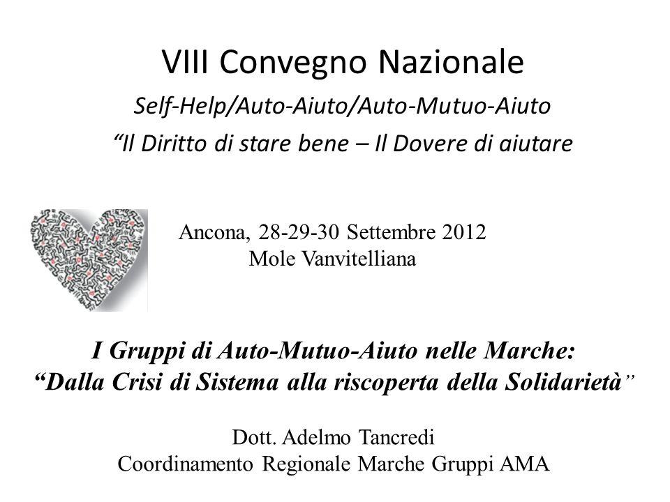 I Gruppi di Auto-Mutuo-Aiuto nelle Marche: