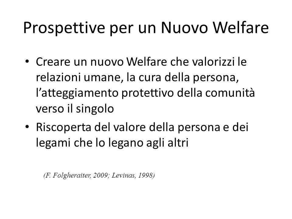 Prospettive per un Nuovo Welfare