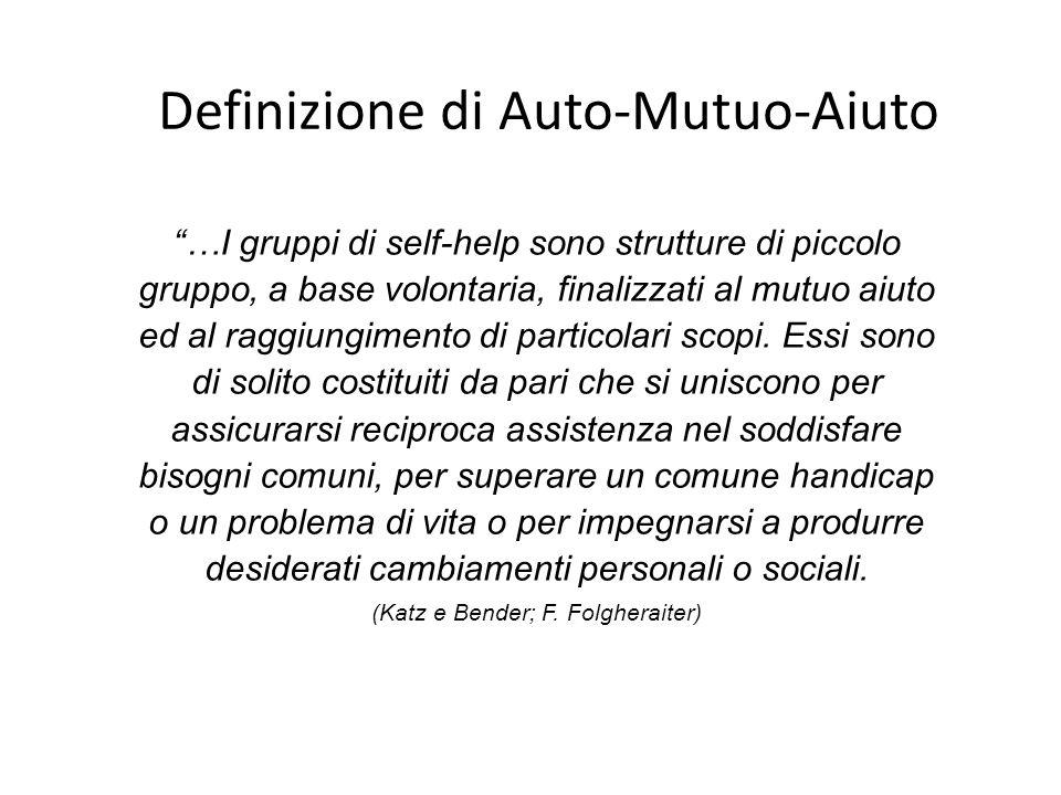 Definizione di Auto-Mutuo-Aiuto