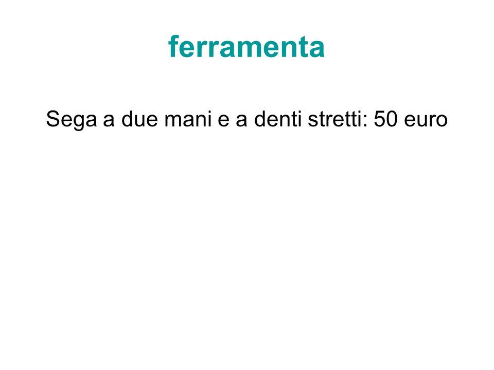 Sega a due mani e a denti stretti: 50 euro