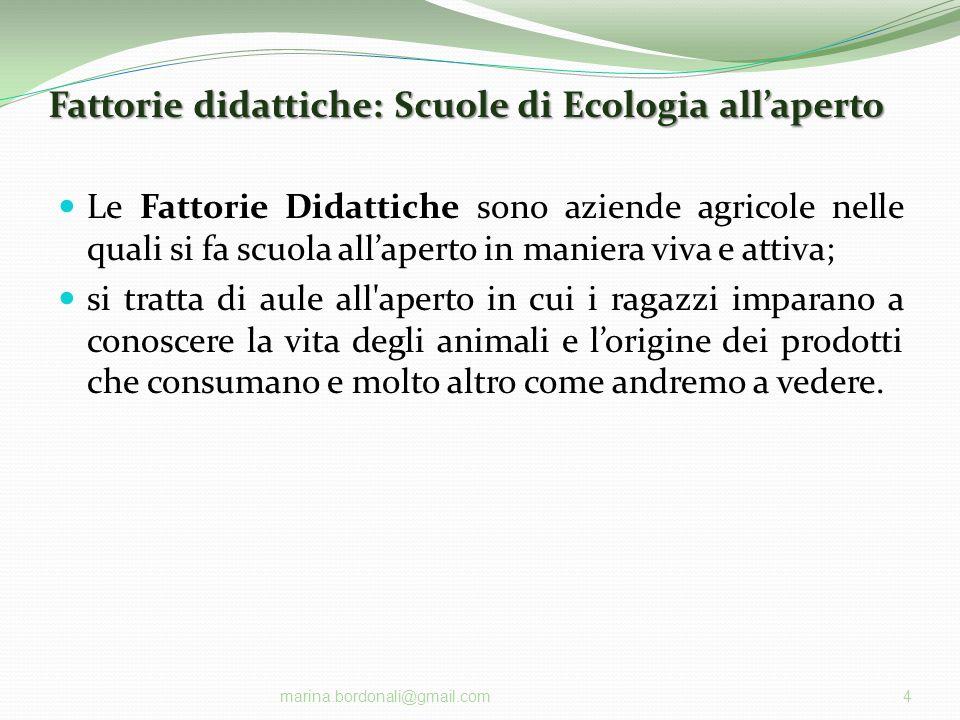 Fattorie didattiche: Scuole di Ecologia all'aperto