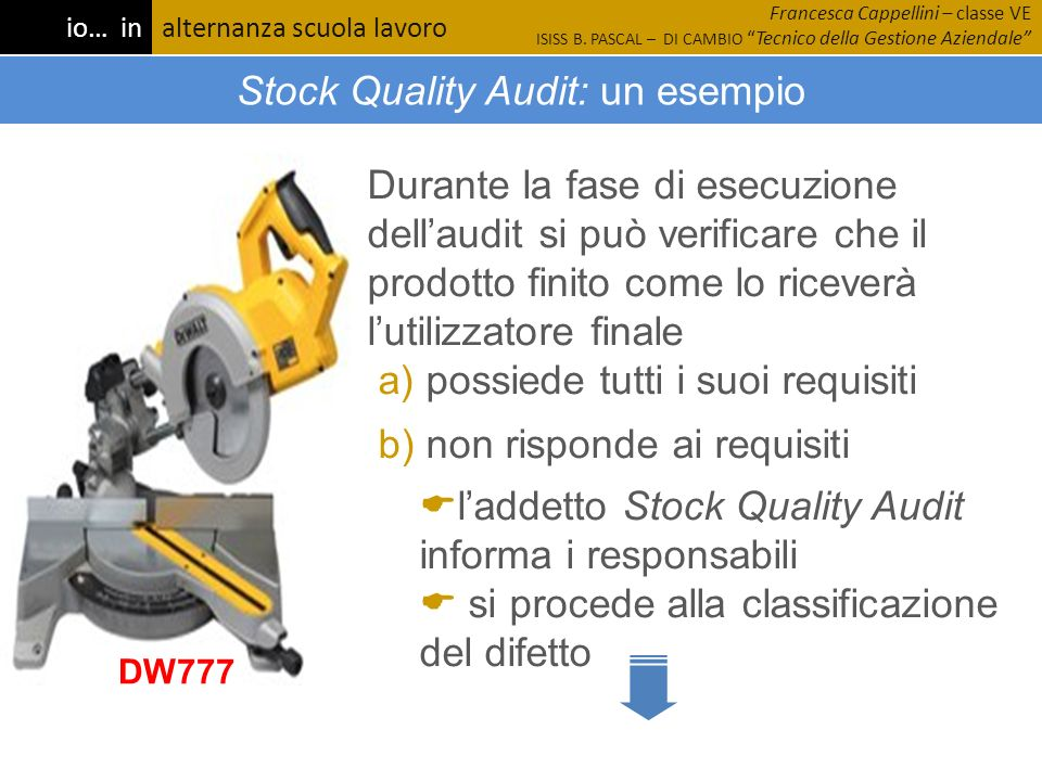 Stock Quality Audit: un esempio