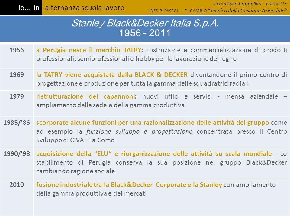 Stanley Black&Decker Italia S.p.A. 1956 - 2011