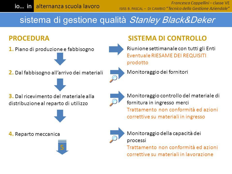 sistema di gestione qualità Stanley Black&Deker