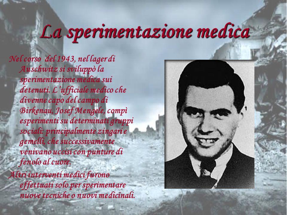 La sperimentazione medica