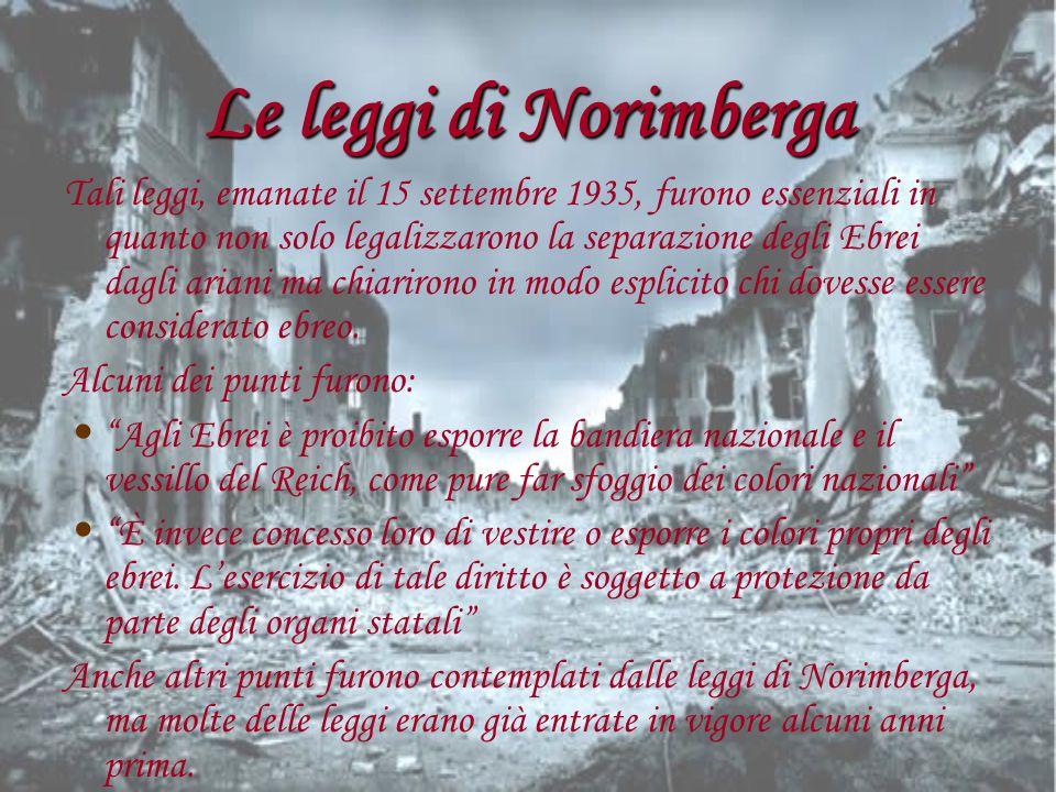 Le leggi di Norimberga