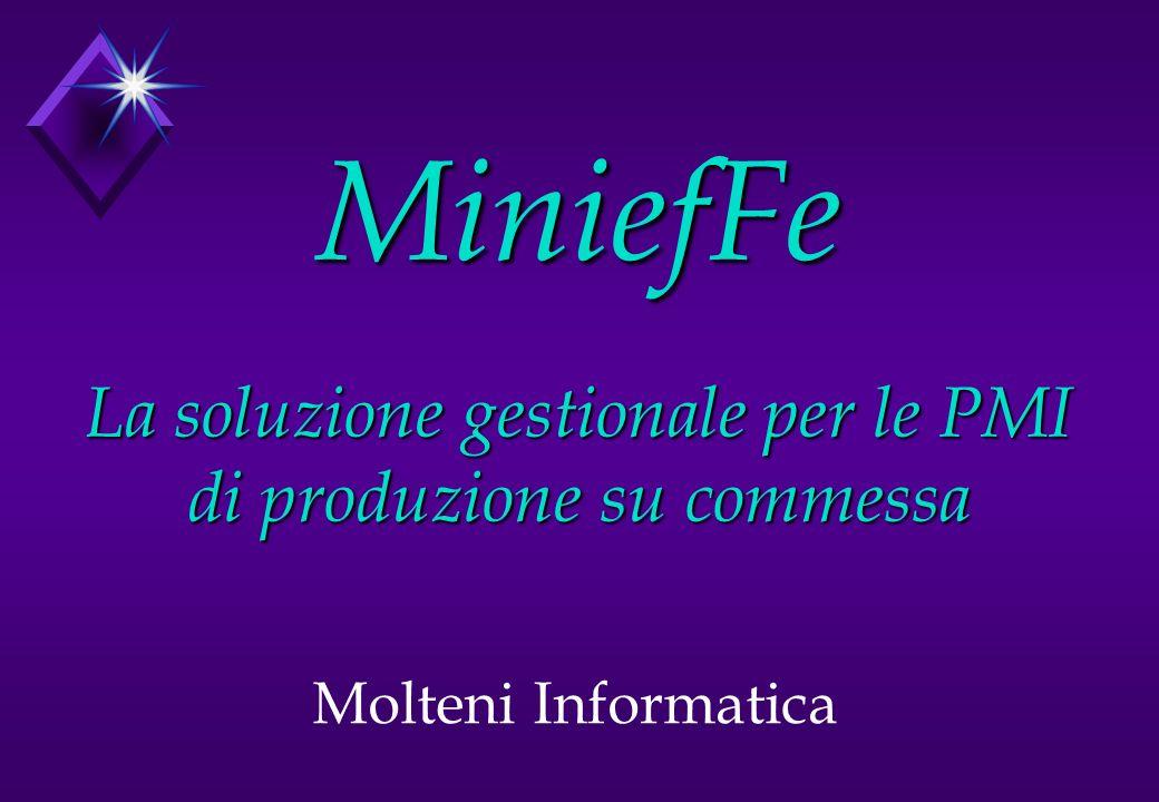MiniefFe La soluzione gestionale per le PMI di produzione su commessa