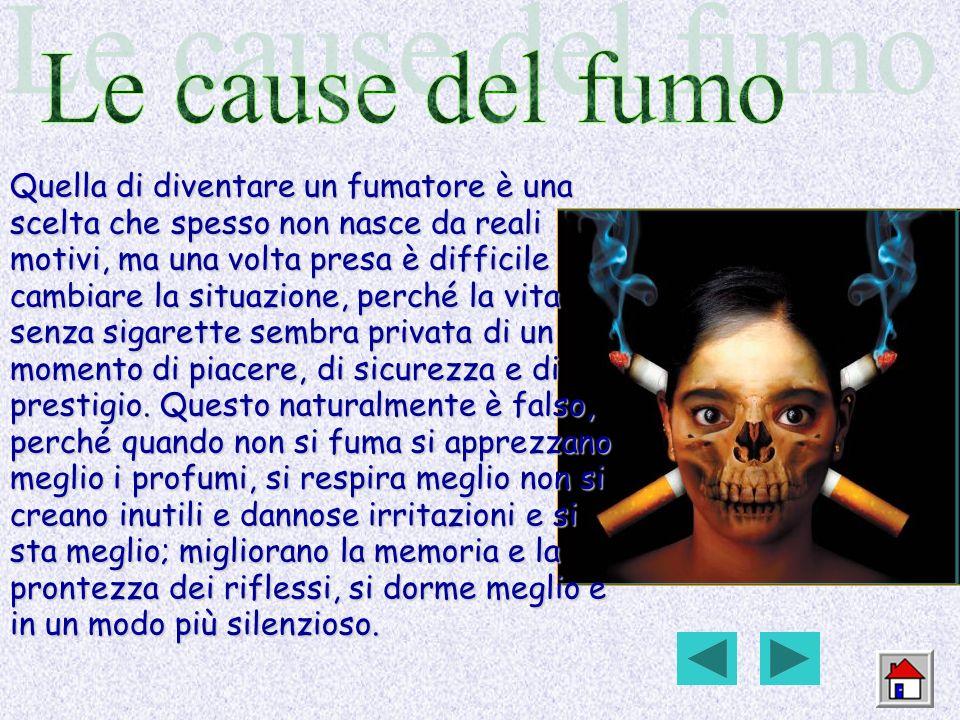 Le cause del fumo