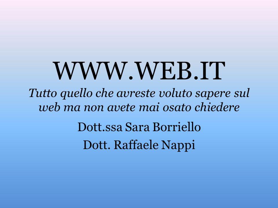 Dott.ssa Sara Borriello Dott. Raffaele Nappi