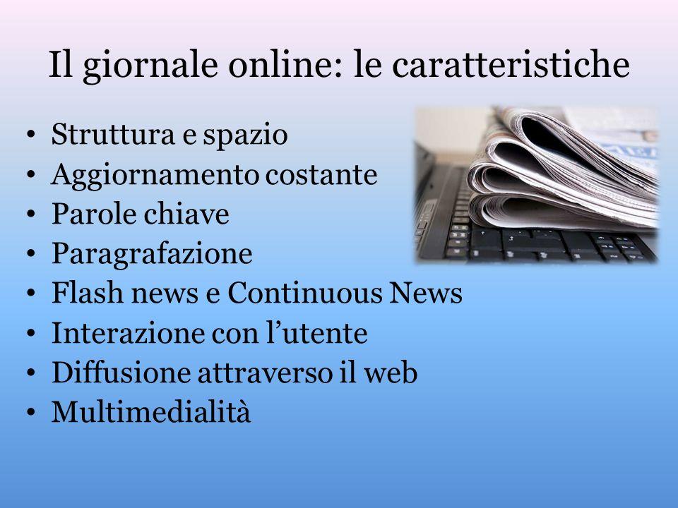 Il giornale online: le caratteristiche