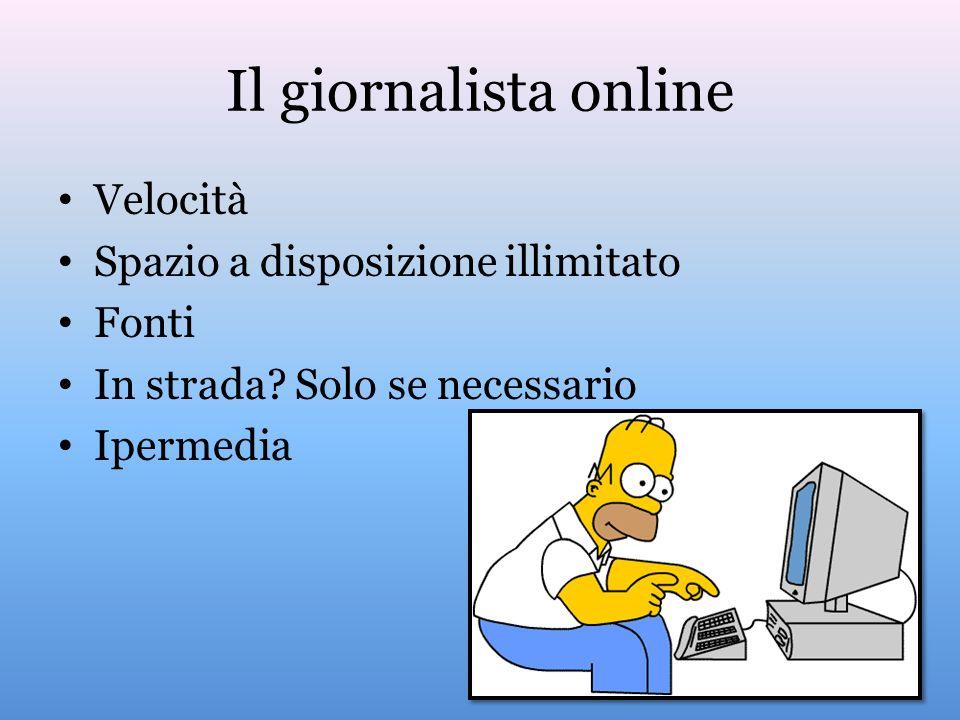 Il giornalista online Velocità Spazio a disposizione illimitato Fonti