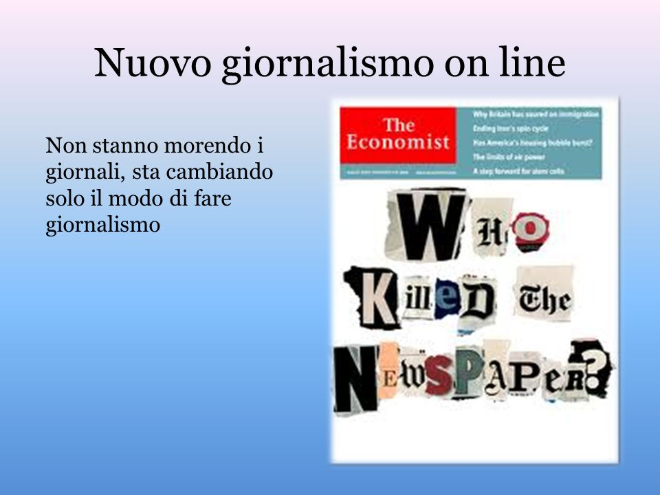 Nuovo giornalismo on line