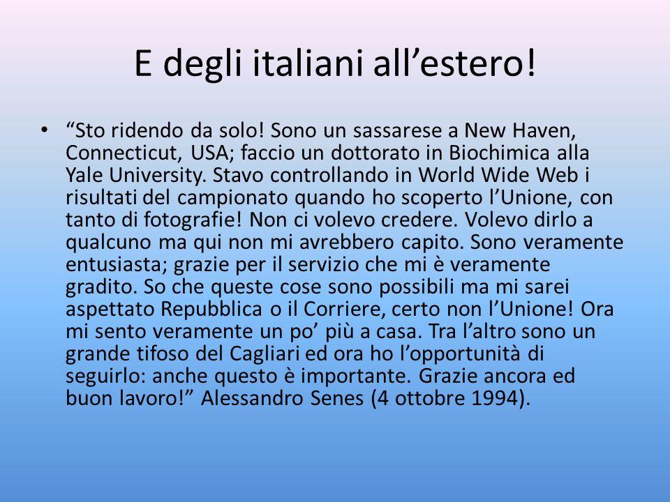 E degli italiani all'estero!