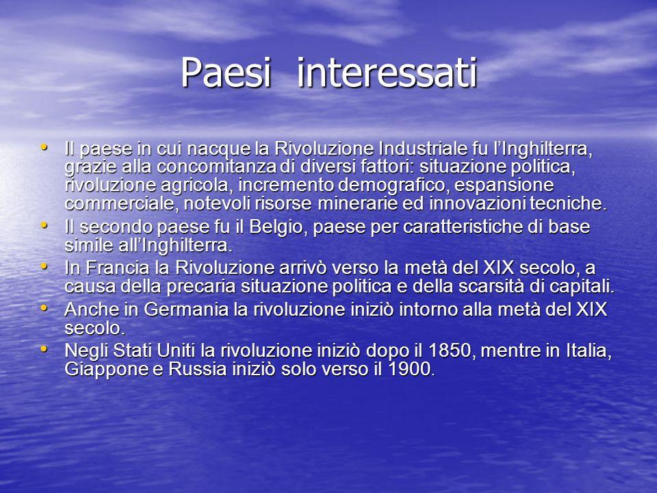 Paesi interessati