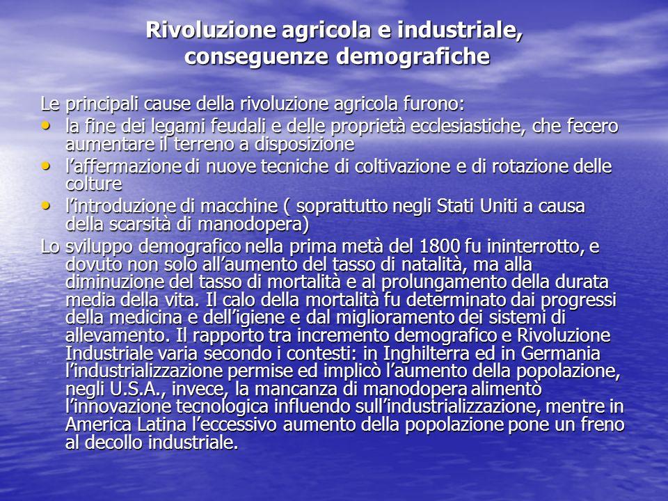 Rivoluzione agricola e industriale, conseguenze demografiche