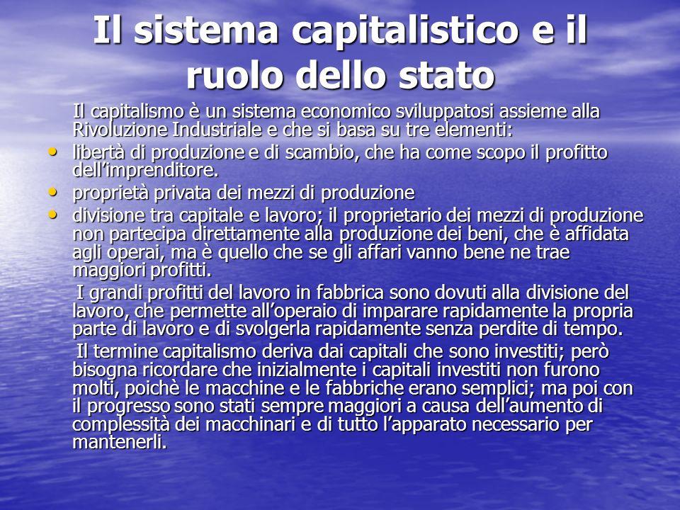 Il sistema capitalistico e il ruolo dello stato