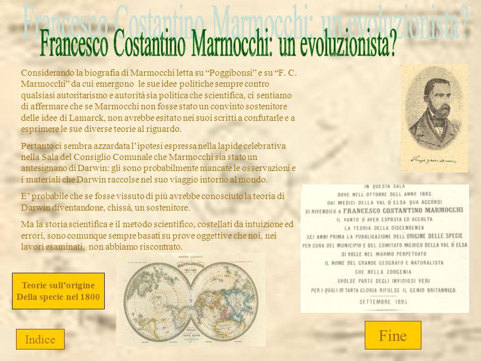 Francesco Costantino Marmocchi: un evoluzionista