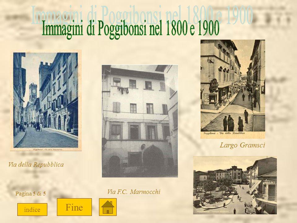 Immagini di Poggibonsi nel 1800 e 1900