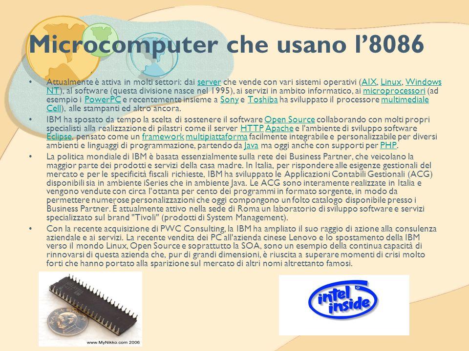 Microcomputer che usano l'8086