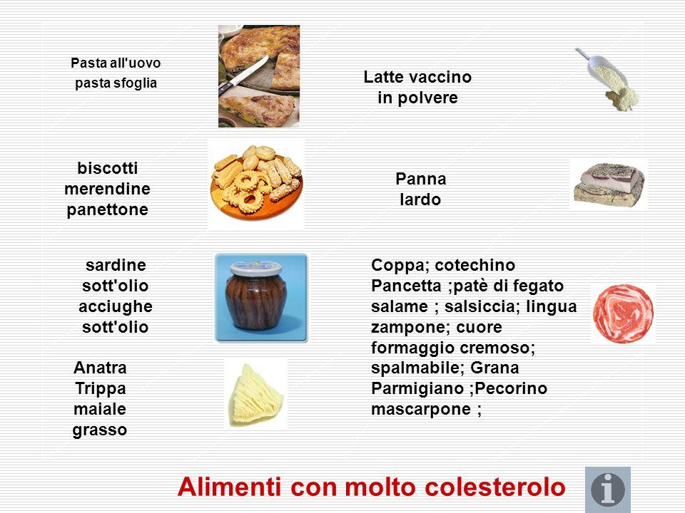 Alimenti con molto colesterolo