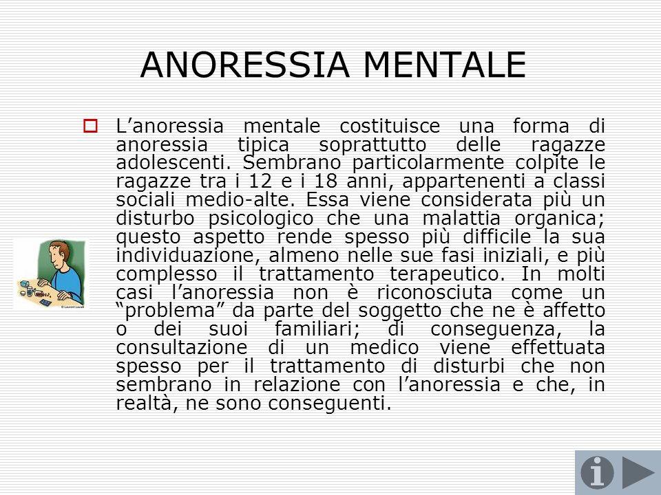 ANORESSIA MENTALE