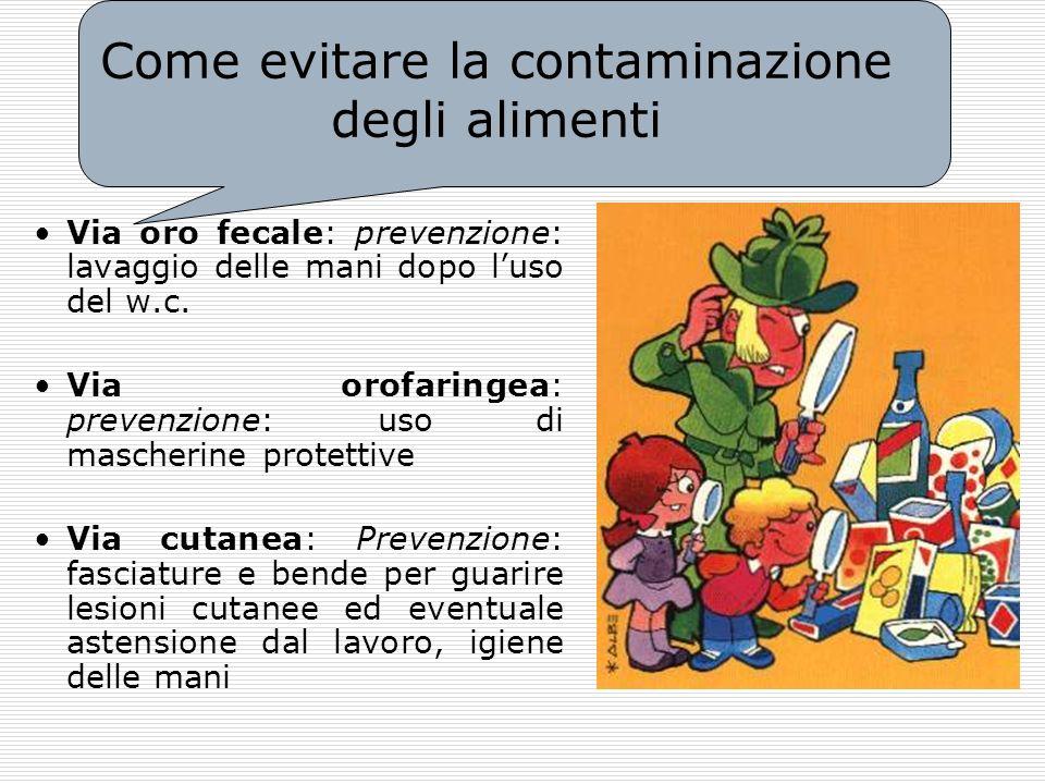 Come evitare la contaminazione degli alimenti