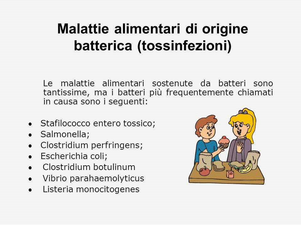 Malattie alimentari di origine batterica (tossinfezioni)