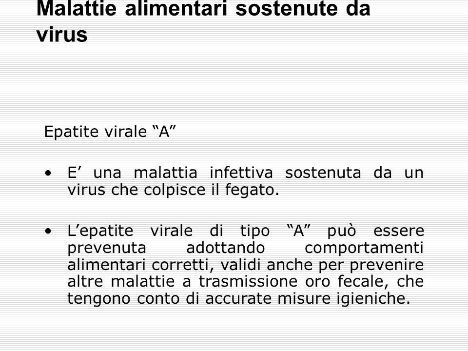 Malattie alimentari sostenute da virus