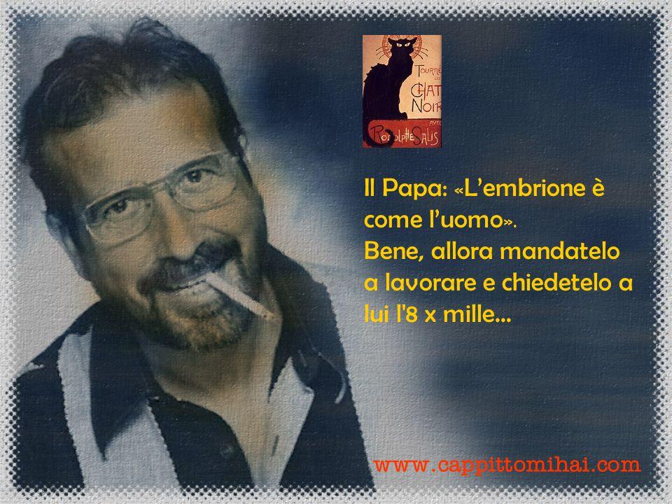 Il Papa: «L'embrione è come l'uomo».