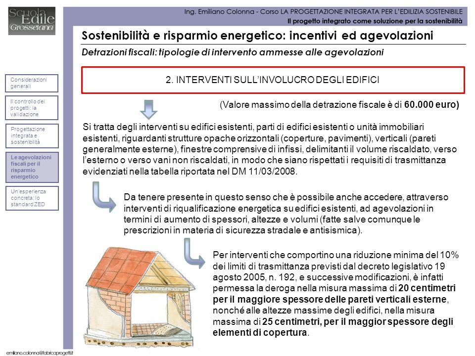 2. INTERVENTI SULL'INVOLUCRO DEGLI EDIFICI