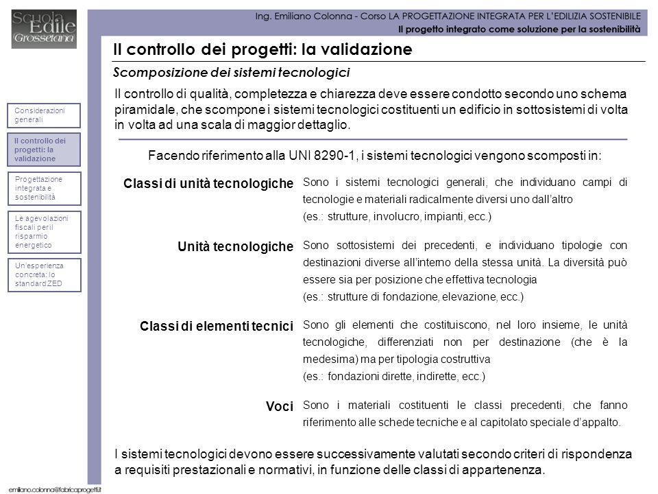 Il controllo dei progetti: la validazione