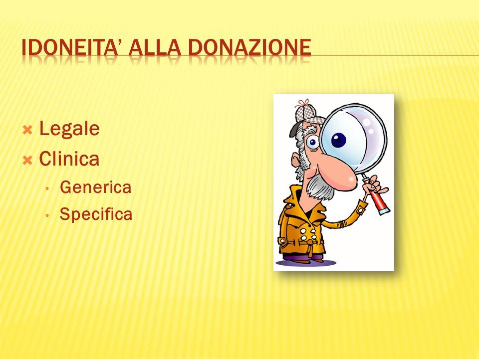 IDONEITA' ALLA DONAZIONE