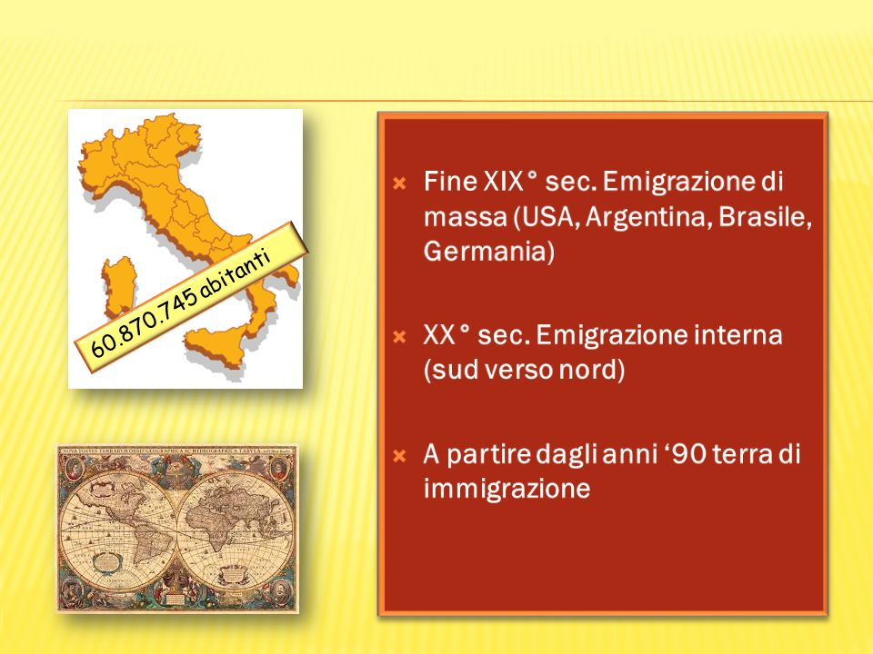 XX° sec. Emigrazione interna (sud verso nord)