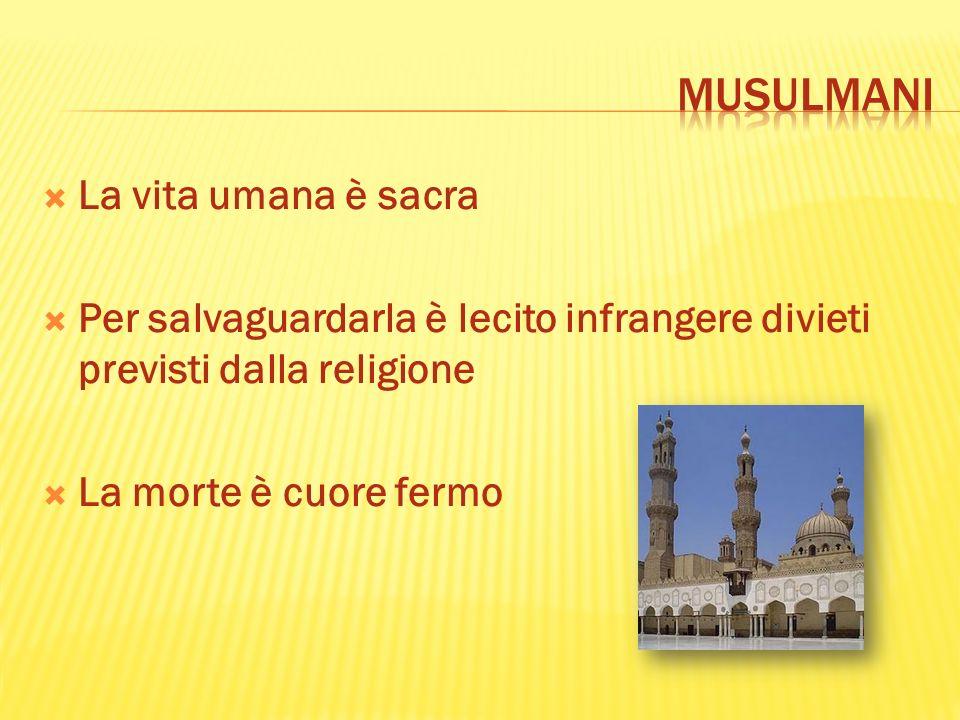 musulmani La vita umana è sacra