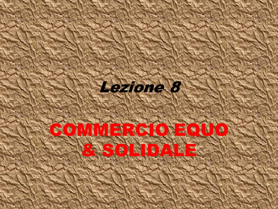 COMMERCIO EQUO & SOLIDALE