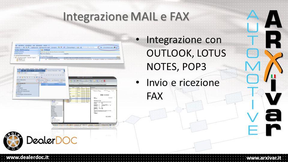 Integrazione MAIL e FAX