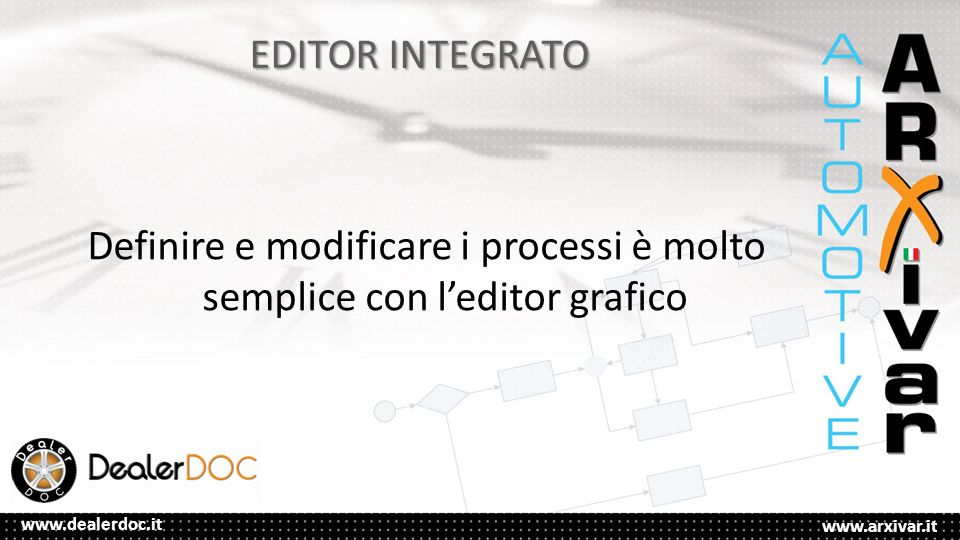 Definire e modificare i processi è molto semplice con l'editor grafico