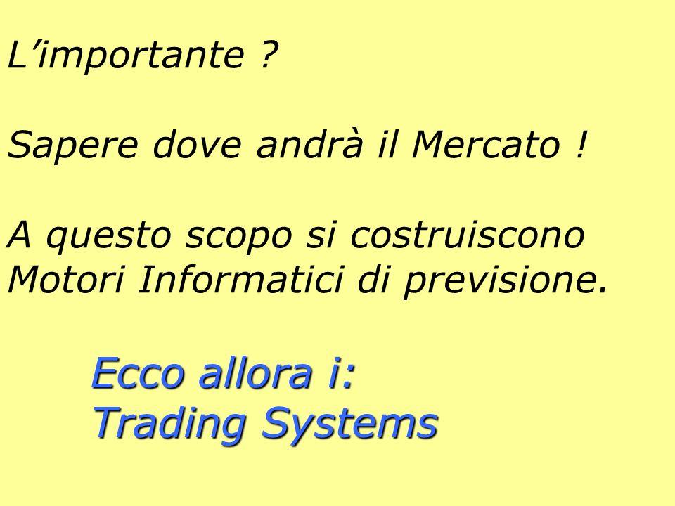 Ecco allora i: Trading Systems