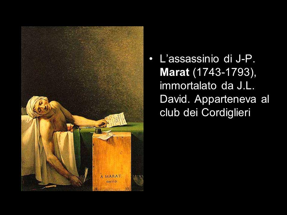 L'assassinio di J-P. Marat (1743-1793), immortalato da J. L. David