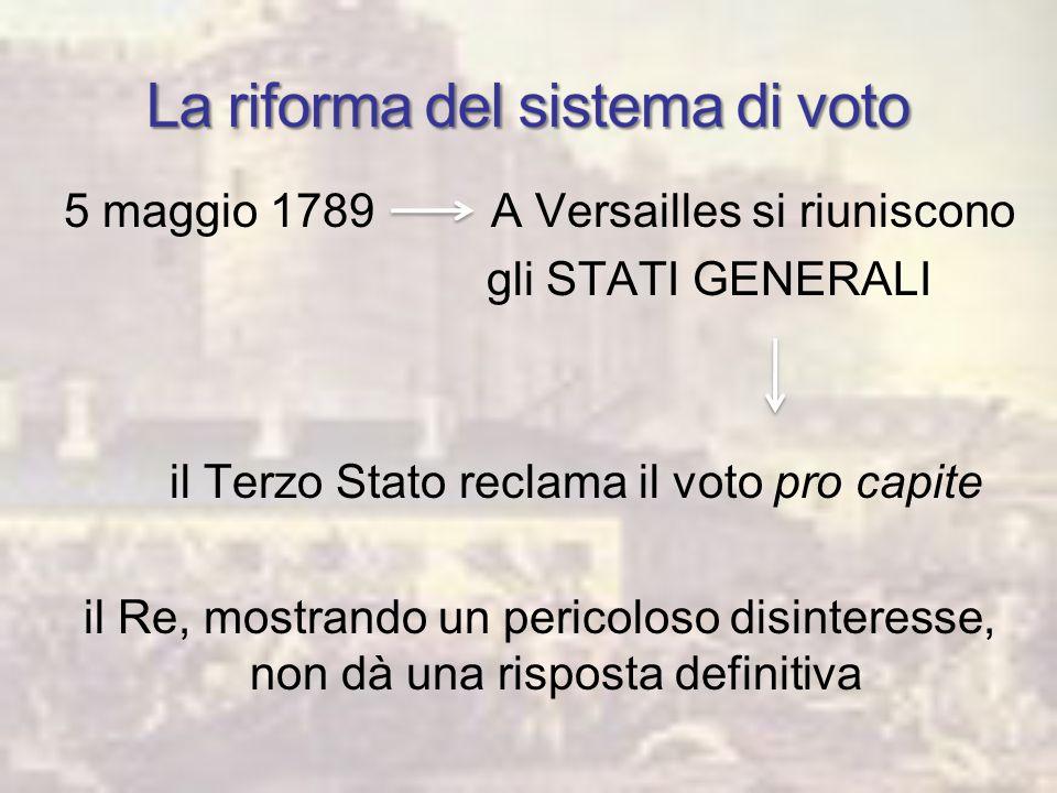 La riforma del sistema di voto