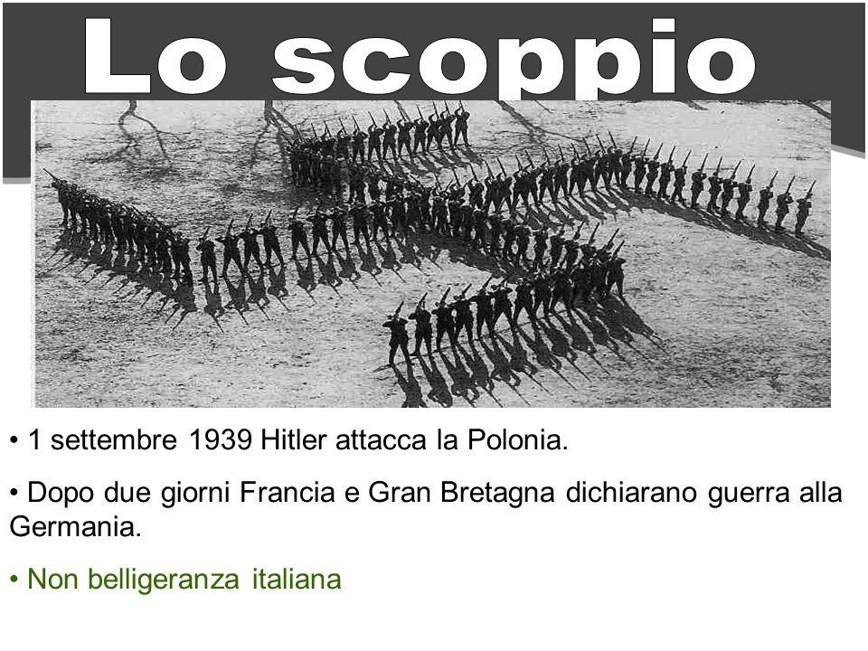 Lo scoppio 1 settembre 1939 Hitler attacca la Polonia.