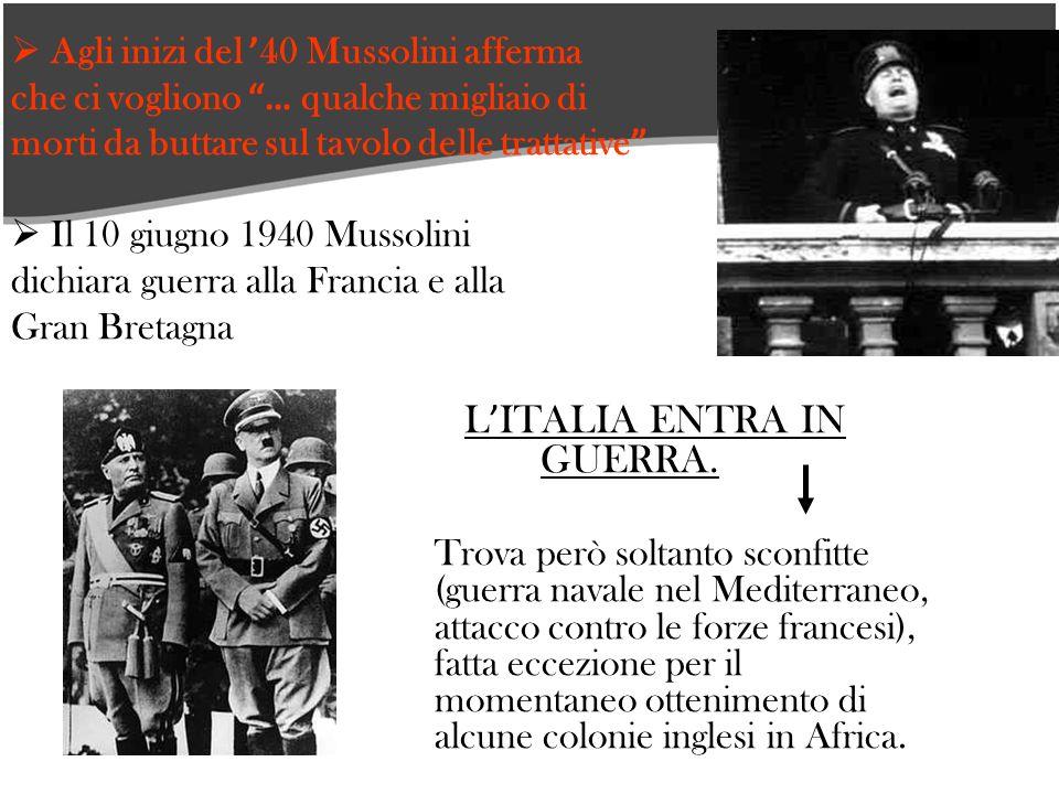 L'ITALIA ENTRA IN GUERRA.