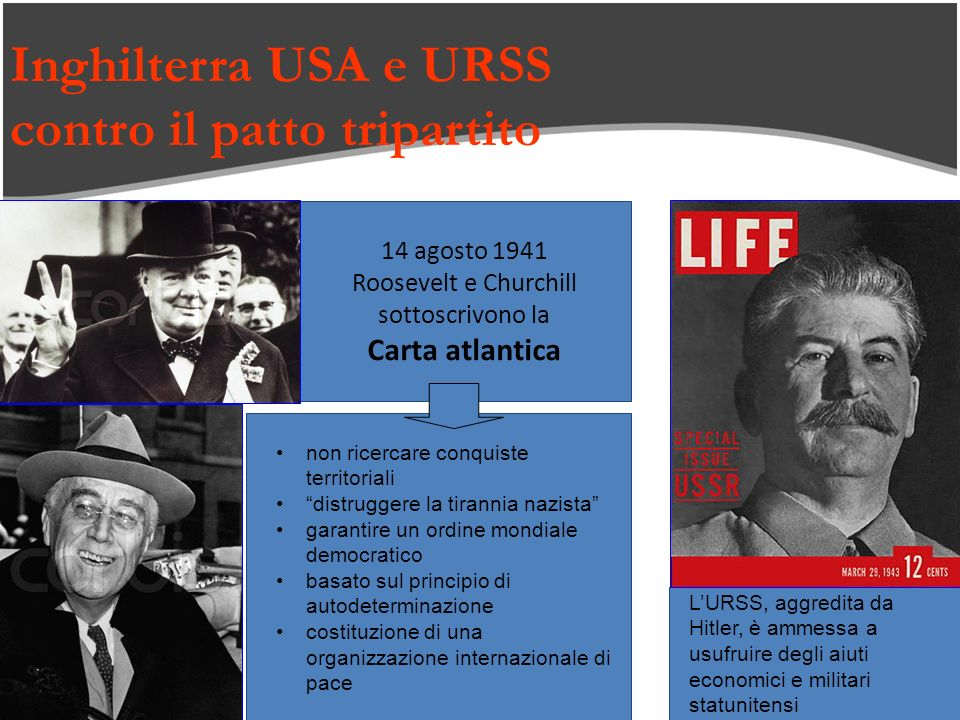 Inghilterra USA e URSS contro il patto tripartito