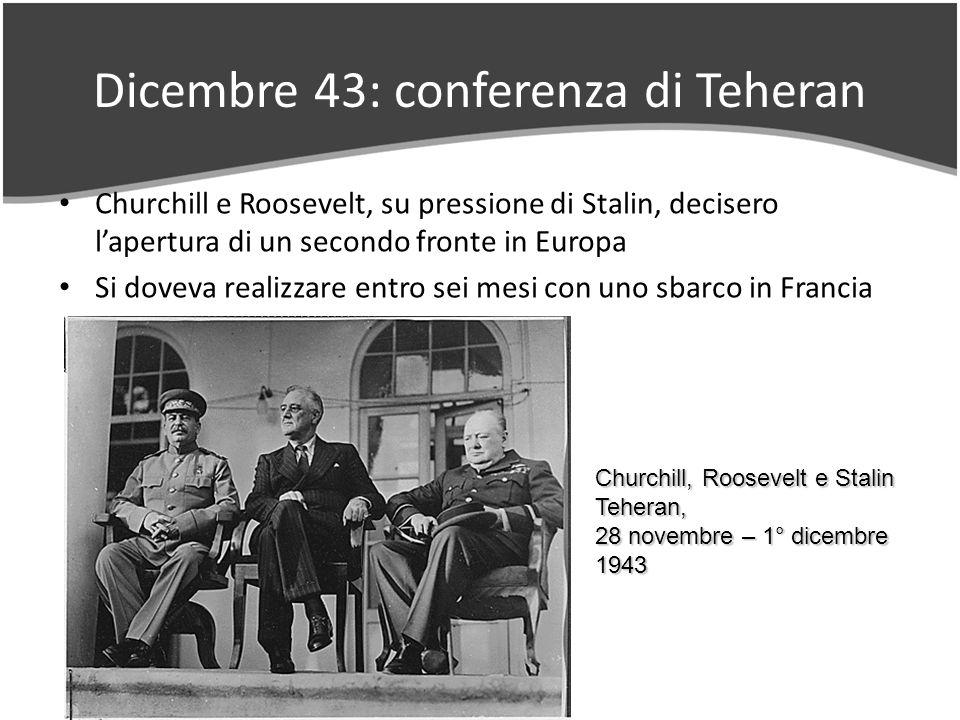 Dicembre 43: conferenza di Teheran