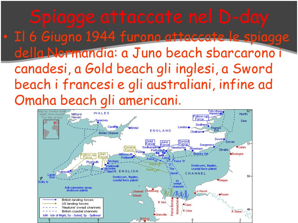 Spiagge attaccate nel D-day