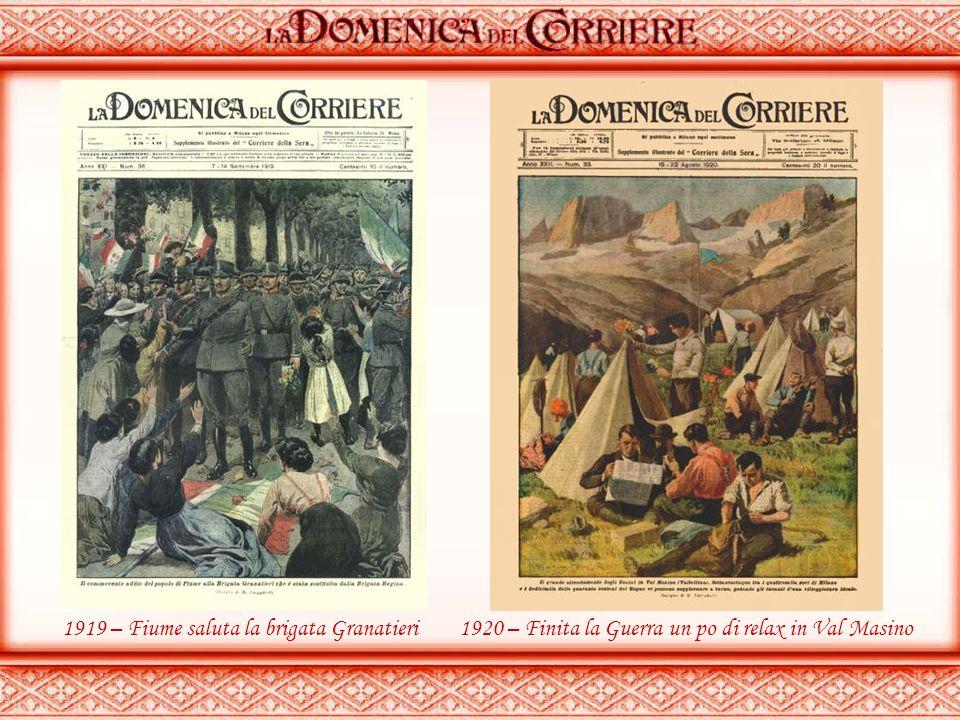 1919 – Fiume saluta la brigata Granatieri