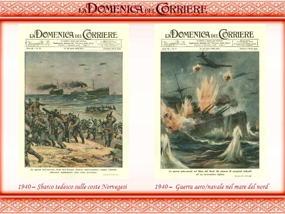 1940 – Sbarco tedesco sulle coste Norvegesi