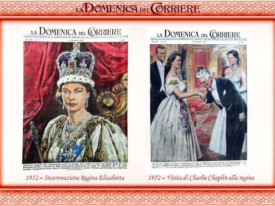 1952 – Incoronazione Regina Elisabetta